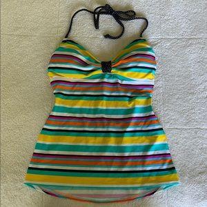 Other - First Kiss Swimsuit Tankini Top. Stripes. Medium